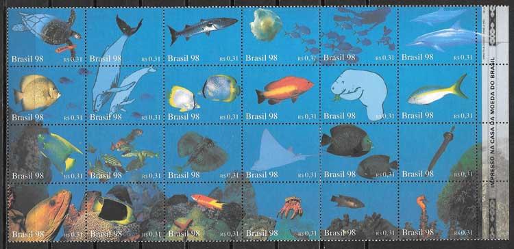 sellos fauna Brasil 1998