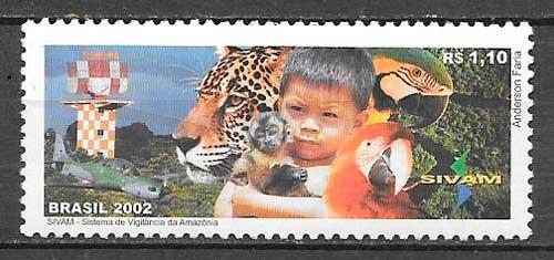colección sellos fauna Brasil 2002