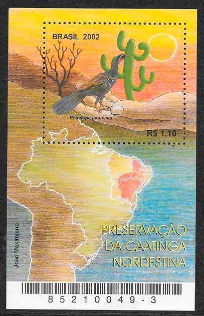 filatelia fauna Brasil 2002