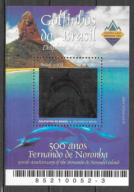 filatelia fauna Brasil 2003