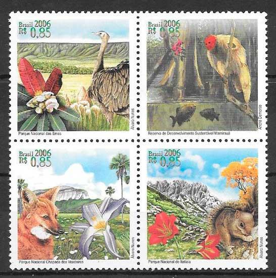 sellos fauna Brasil 2006