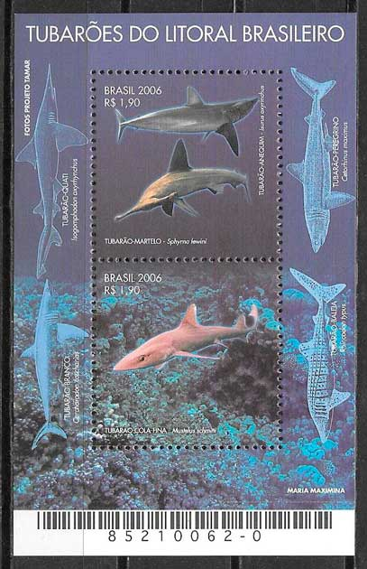 filatelia fauna Barsil 2006