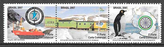 filatelia fauna Brasil 2007