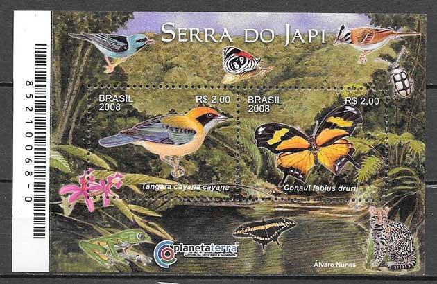 ciolección sellos fauna Brasil 2007