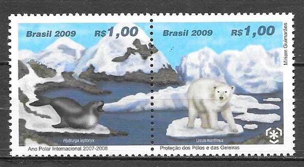 filatelia colección fauna Brasil 2007