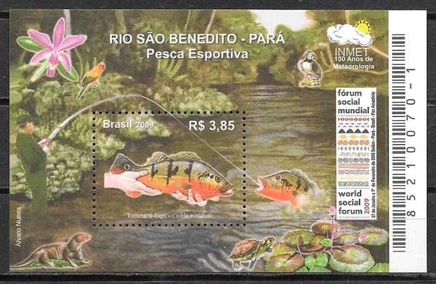 colección sellos fauna Brasil 2009