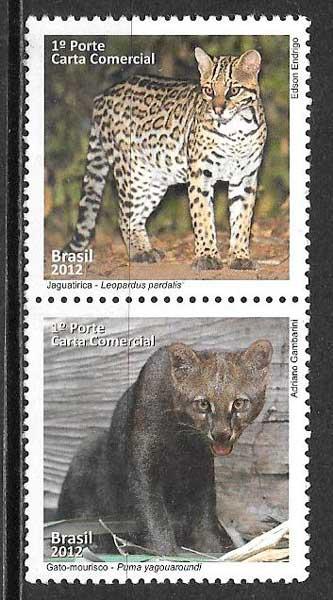 colección sellos fauna Brasil 2012