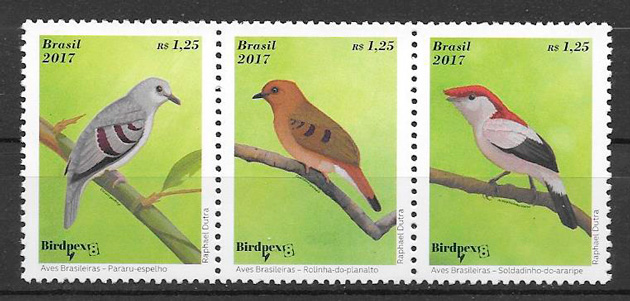 filatelia fauna Brasil 2017