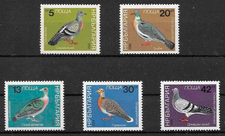 sellos fauna Bulgaria 1984