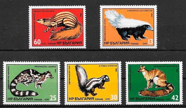 filatelia fauna Bulgaria 1984