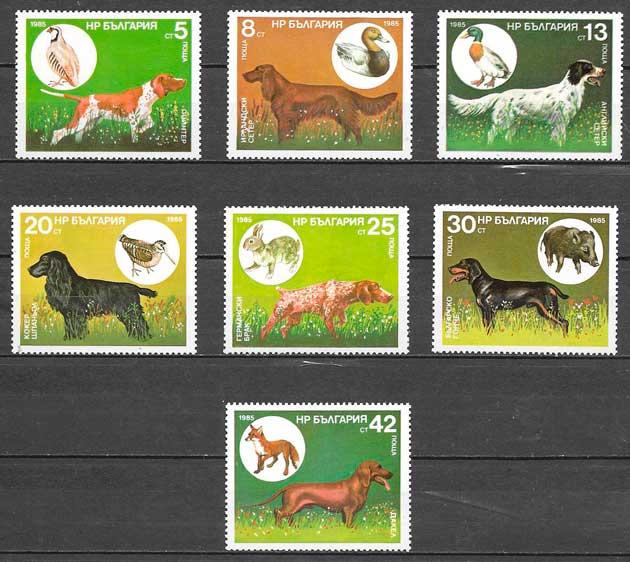 filatelia fauna Bulgaria 1985