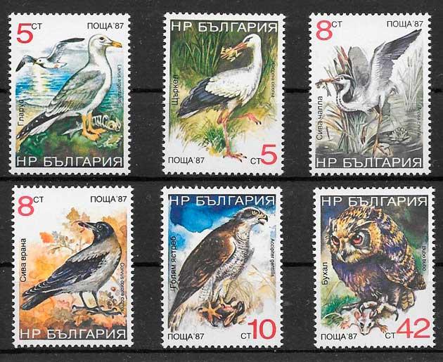 filatelia colección fauna 1988