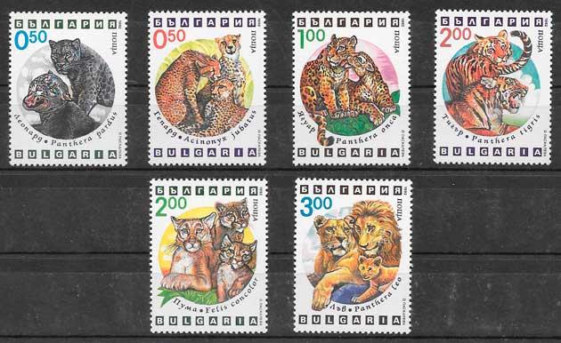 sellos fauna Bulgaria 1992