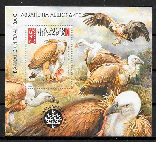 filatelia fauna Bulgaria 2010