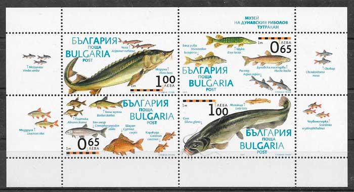 colección sellos fauna Bulgaria 2011