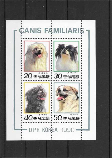 Colección sellos hojita de perros de Corea