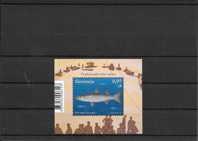 Filatelia sellos hojita de fauna marina-peces
