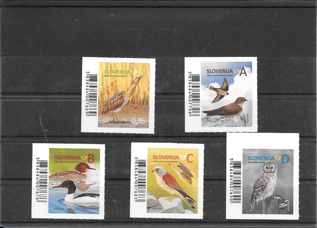 Filatelia sellos serie de fauna aves del país