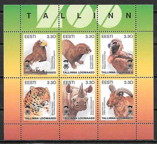 filatelia fauna Estonia 1997