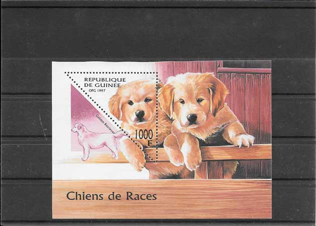 Sellos fauna perros Guinea-1997-01