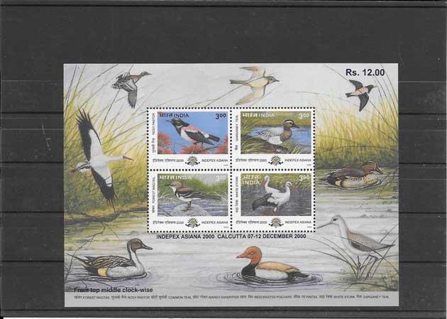 Sellos Fauna diversa India-2000-03