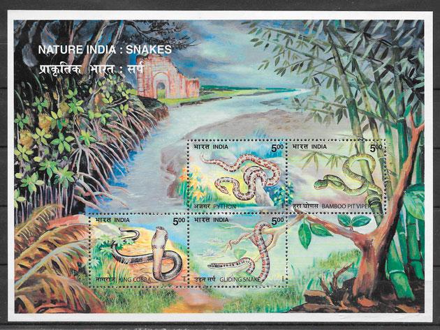 FILATELIA fauna India 2003