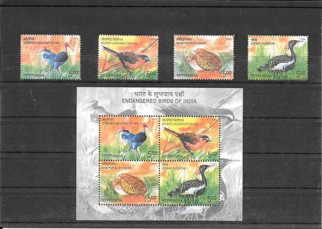Filatelia sellos fauna del 2006 en peligro de extinción.