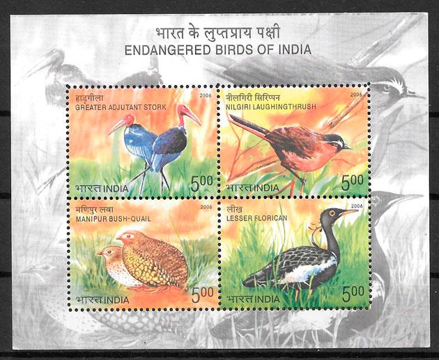 colección sellos fauna India 2006