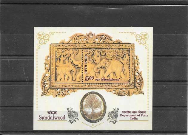 Filatelia sellos fauna y flora India