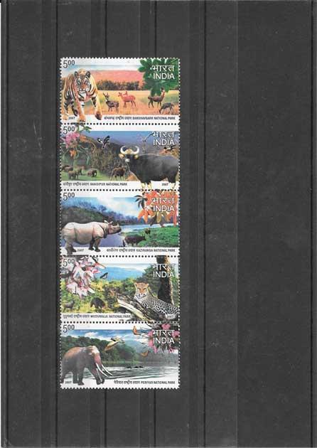 Filatelia sellos serie parques naturales fauna - flora.