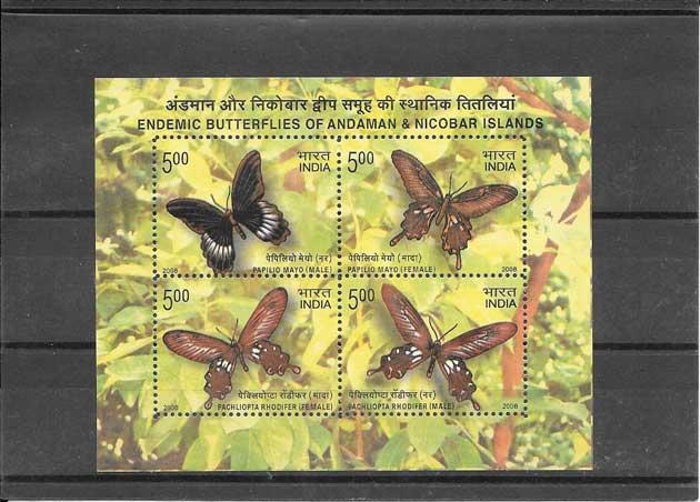 Estampillas hojita fauna - mariposas