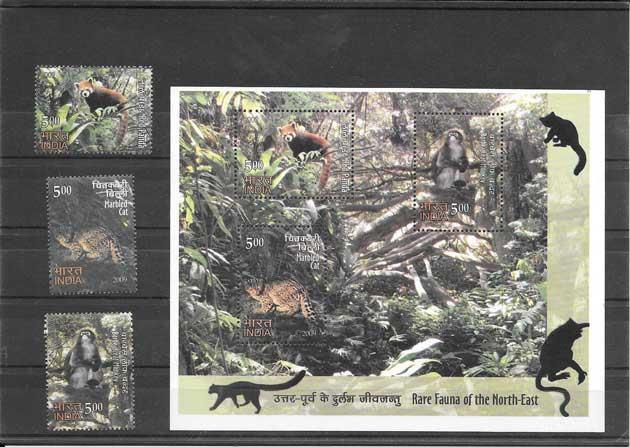 Colección sellos fauna salvaje del noreste