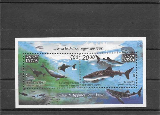 Filatelia sellos fauna marina - peces