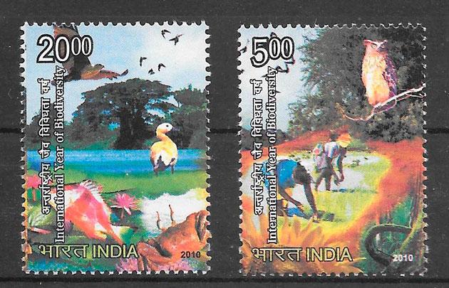 sellos fauna India 2010