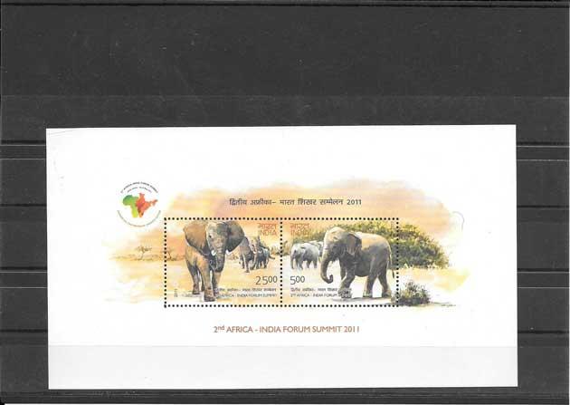 Sellos  tema fauna - elefantes