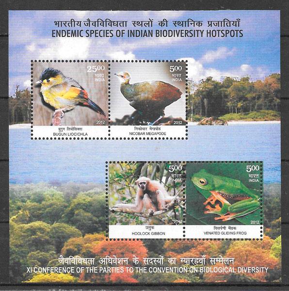 sellos fauna India 2012