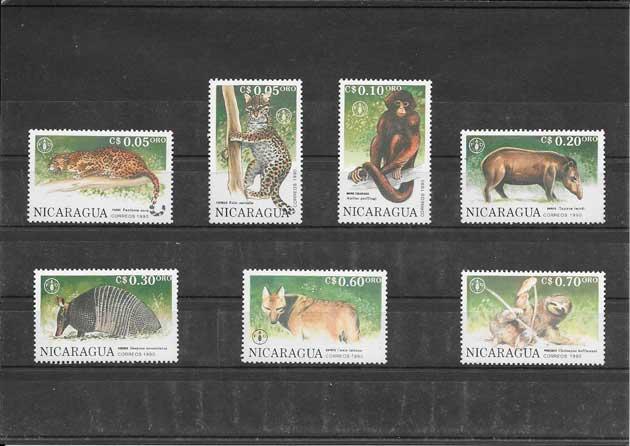 Colección sellos serie de fauna salvaje