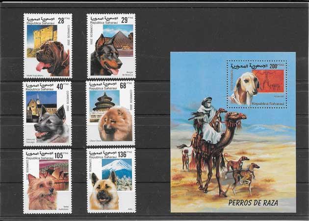 Filatelia sellos fauna perros de razas