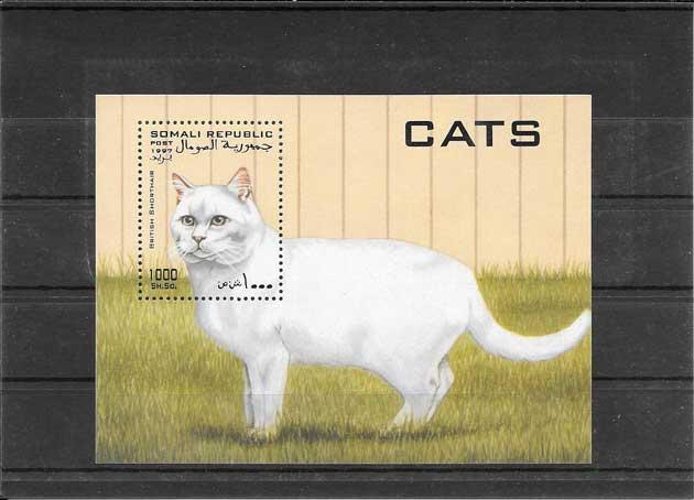 Colección sellos fauna gato