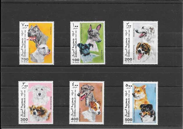 Estampillas fauna perros Somalia-1999-01