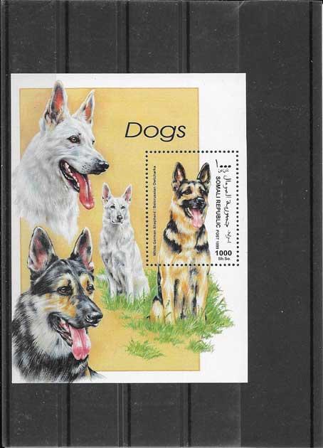 Estampillas fauna perros Somalia-1999-02