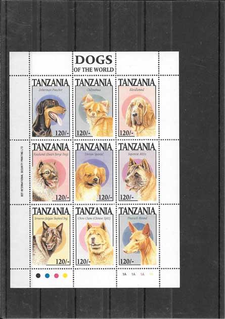 Estampillas fauna perros de raza