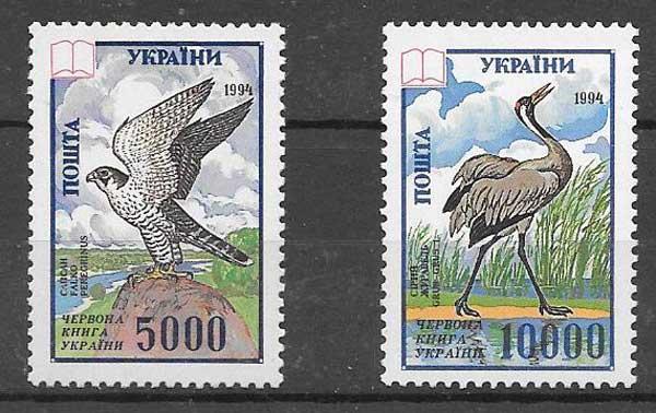 Sellos fauna Ucrania 1995