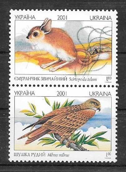 Sellos fauna protegida Ucrania 2001