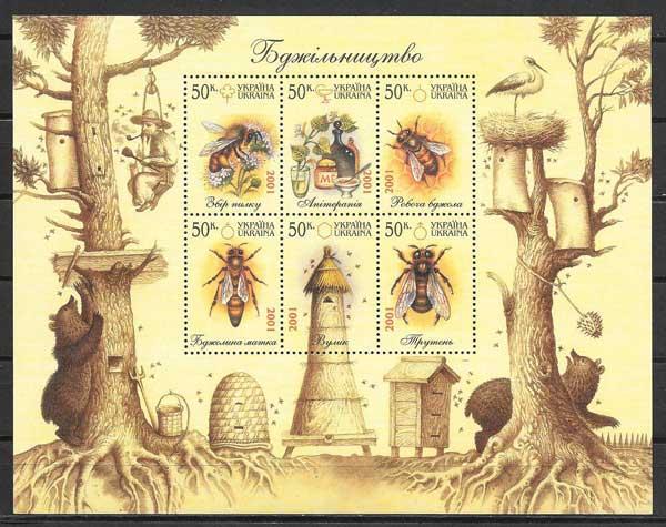 Sellos fauna abejas del país