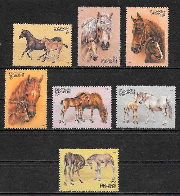 sellos fauna Kirgikistán 1995