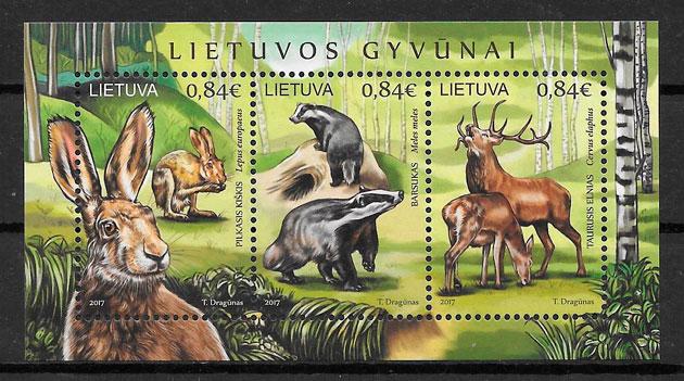 filatelia fauna Lituania 2017