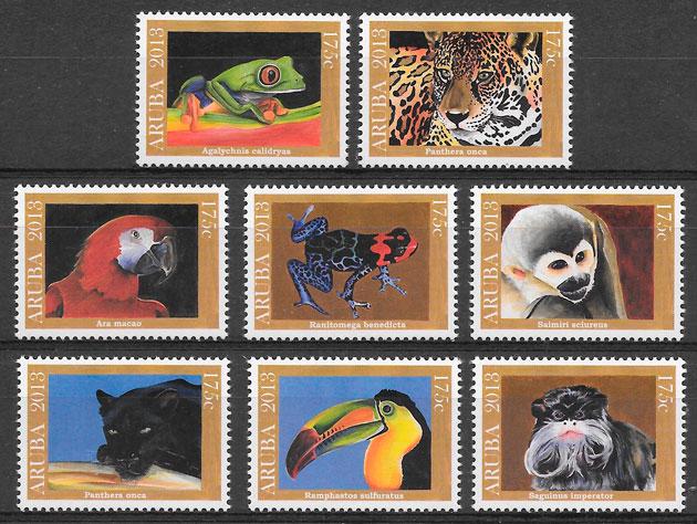 filatelia fauna Aruba 2013