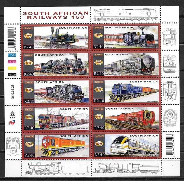 sellos trenes África del Sur 2010