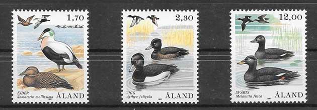 Estampillas Fauna de Aland 1987